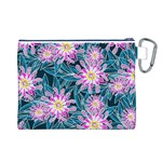 Whimsical Garden Canvas Cosmetic Bag (L) Back
