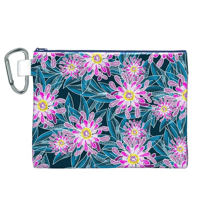 Whimsical Garden Canvas Cosmetic Bag (XL)