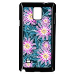 Whimsical Garden Samsung Galaxy Note 4 Case (Black) Front