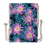 Whimsical Garden Drawstring Bag (Large) Front