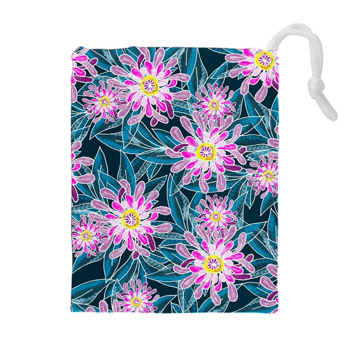 Whimsical Garden Drawstring Pouches (Extra Large)