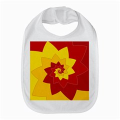Flower Blossom Spiral Design  Red Yellow Bib