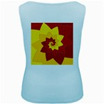 Flower Blossom Spiral Design  Red Yellow Women s Baby Blue Tank Top Back