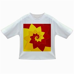 Flower Blossom Spiral Design  Red Yellow Infant/toddler T Shirts