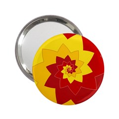 Flower Blossom Spiral Design  Red Yellow 2 25  Handbag Mirrors