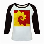 Flower Blossom Spiral Design  Red Yellow Kids Baseball Jerseys Front