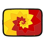 Flower Blossom Spiral Design  Red Yellow Netbook Case (Medium)  Front