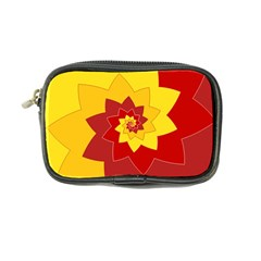 Flower Blossom Spiral Design  Red Yellow Coin Purse