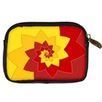 Flower Blossom Spiral Design  Red Yellow Digital Camera Cases Back