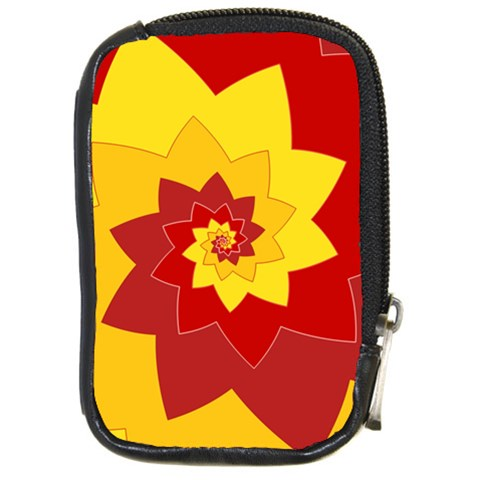 Flower Blossom Spiral Design  Red Yellow Compact Camera Cases