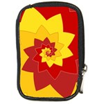 Flower Blossom Spiral Design  Red Yellow Compact Camera Cases Front