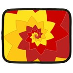 Flower Blossom Spiral Design  Red Yellow Netbook Case (XL)  Front