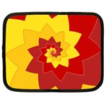 Flower Blossom Spiral Design  Red Yellow Netbook Case (XXL)  Front