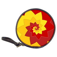 Flower Blossom Spiral Design  Red Yellow Classic 20-CD Wallets