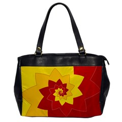 Flower Blossom Spiral Design  Red Yellow Office Handbags