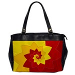 Flower Blossom Spiral Design  Red Yellow Office Handbags Front