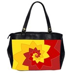 Flower Blossom Spiral Design  Red Yellow Office Handbags (2 Sides)  Back