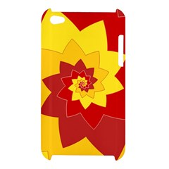 Flower Blossom Spiral Design  Red Yellow Apple iPod Touch 4
