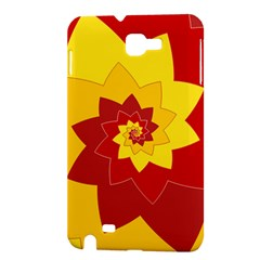 Flower Blossom Spiral Design  Red Yellow Samsung Galaxy Note 1 Hardshell Case