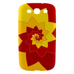 Flower Blossom Spiral Design  Red Yellow Samsung Galaxy S III Hardshell Case