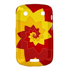 Flower Blossom Spiral Design  Red Yellow Bold Touch 9900 9930