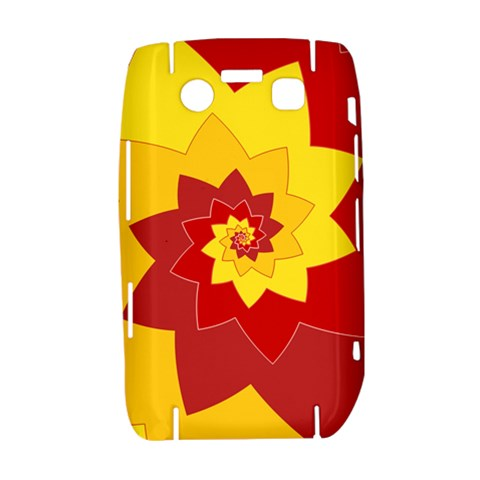Flower Blossom Spiral Design  Red Yellow Bold 9700