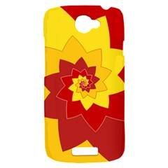 Flower Blossom Spiral Design  Red Yellow HTC One S Hardshell Case