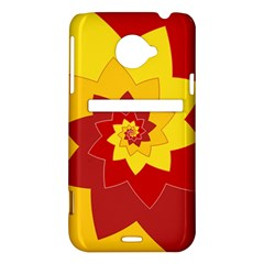 Flower Blossom Spiral Design  Red Yellow HTC Evo 4G LTE Hardshell Case