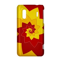 Flower Blossom Spiral Design  Red Yellow HTC Evo Design 4G/ Hero S Hardshell Case
