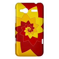 Flower Blossom Spiral Design  Red Yellow HTC Radar Hardshell Case