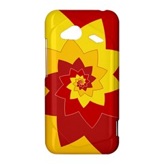 Flower Blossom Spiral Design  Red Yellow HTC Droid Incredible 4G LTE Hardshell Case