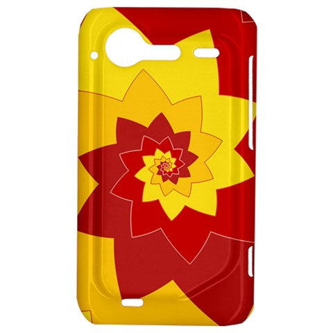 Flower Blossom Spiral Design  Red Yellow HTC Incredible S Hardshell Case