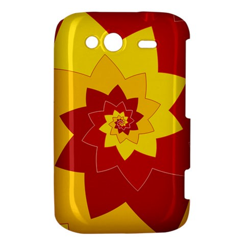 Flower Blossom Spiral Design  Red Yellow HTC Wildfire S A510e Hardshell Case