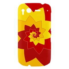 Flower Blossom Spiral Design  Red Yellow HTC Desire S Hardshell Case