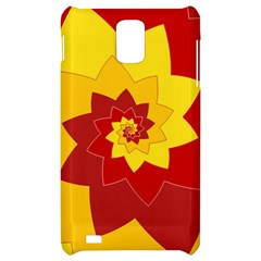 Flower Blossom Spiral Design  Red Yellow Samsung Infuse 4G Hardshell Case