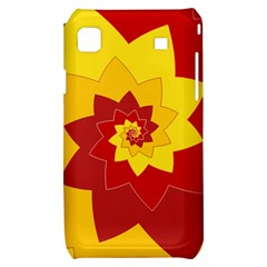 Flower Blossom Spiral Design  Red Yellow Samsung Galaxy S i9000 Hardshell Case