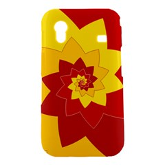 Flower Blossom Spiral Design  Red Yellow Samsung Galaxy Ace S5830 Hardshell Case