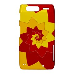 Flower Blossom Spiral Design  Red Yellow Motorola Droid Razr XT912