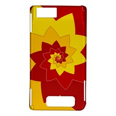 Flower Blossom Spiral Design  Red Yellow Motorola DROID X2