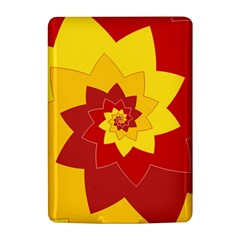 Flower Blossom Spiral Design  Red Yellow Kindle 4