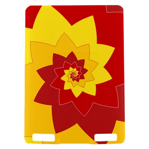 Flower Blossom Spiral Design  Red Yellow Kindle Touch 3G