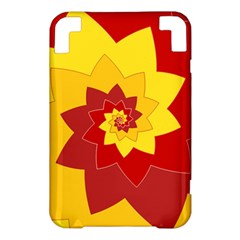 Flower Blossom Spiral Design  Red Yellow Kindle 3 Keyboard 3G