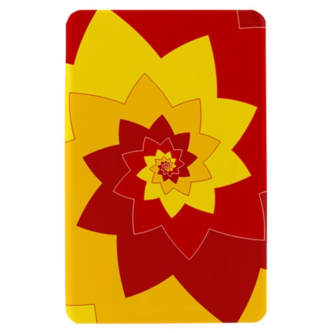 Flower Blossom Spiral Design  Red Yellow Kindle Fire (1st Gen) Hardshell Case