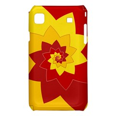 Flower Blossom Spiral Design  Red Yellow Samsung Galaxy S i9008 Hardshell Case