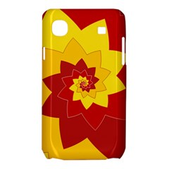 Flower Blossom Spiral Design  Red Yellow Samsung Galaxy SL i9003 Hardshell Case
