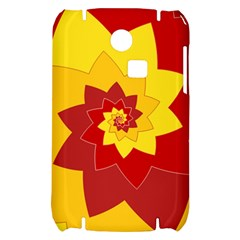 Flower Blossom Spiral Design  Red Yellow Samsung S3350 Hardshell Case
