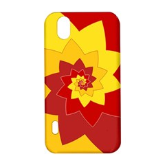 Flower Blossom Spiral Design  Red Yellow LG Optimus P970