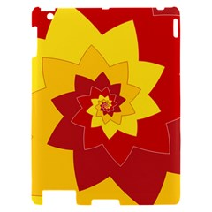 Flower Blossom Spiral Design  Red Yellow Apple iPad 2 Hardshell Case