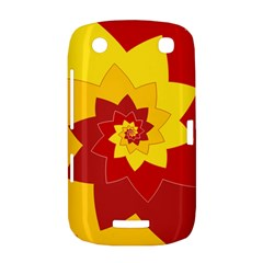 Flower Blossom Spiral Design  Red Yellow BlackBerry Curve 9380