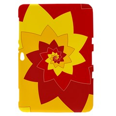 Flower Blossom Spiral Design  Red Yellow Samsung Galaxy Tab 8.9  P7300 Hardshell Case
